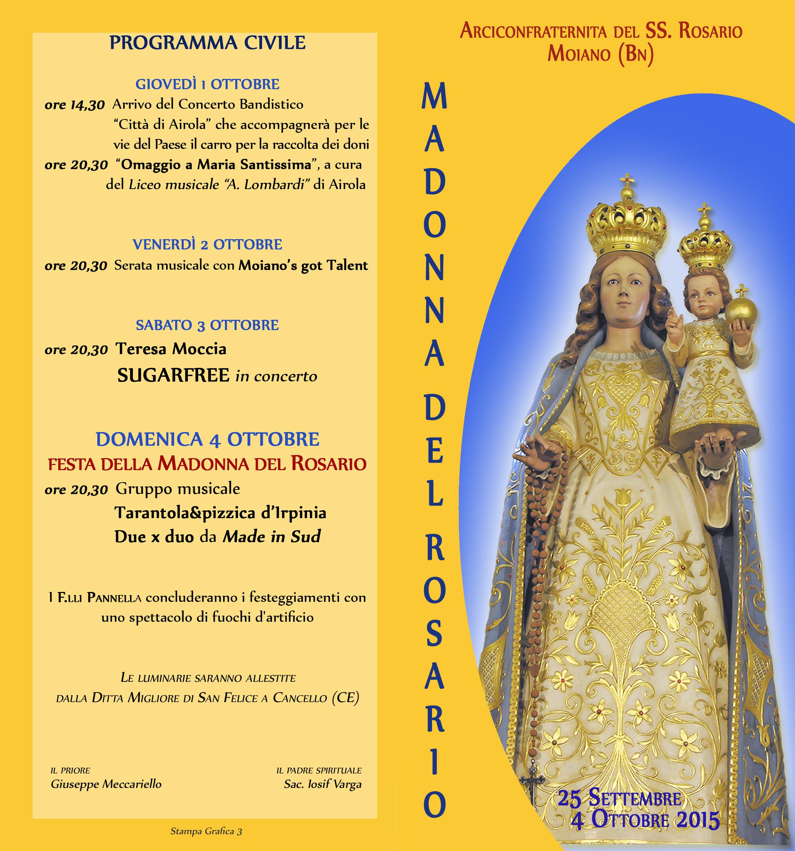 Festa Madonna SS del ROSARIO '15 - Moiano_est2
