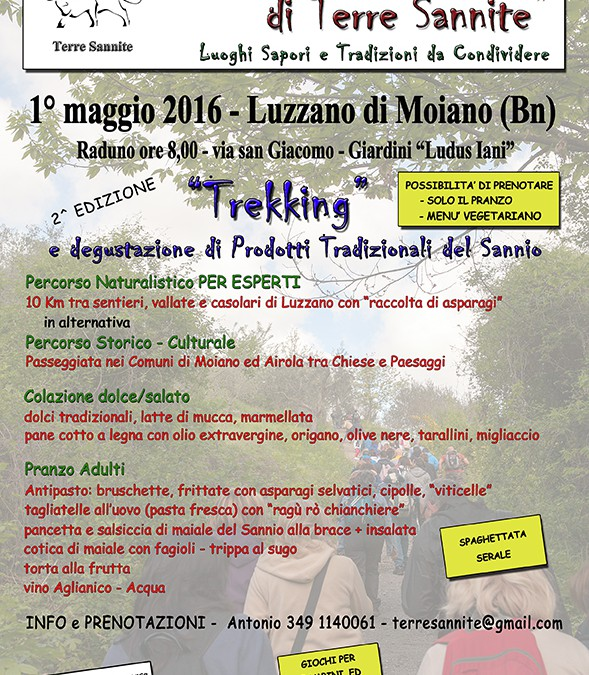I SENTIERI TERRE SANNITE - 1 maggio 2016 - LUZZANO DI MOIANO - BENEVENTO